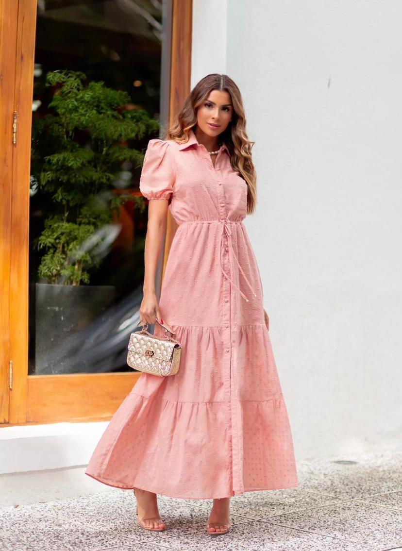 Vestido Ariane Devore Poa
