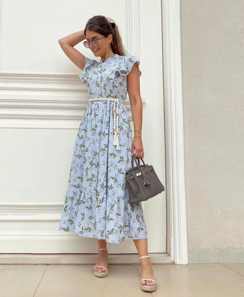 Vestido Ariane Fleur Viscose Floral