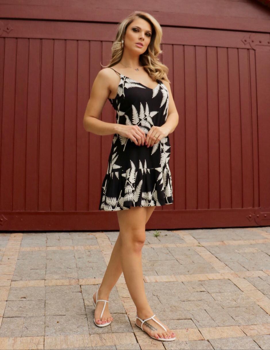 Vestido  Barbara Cheroy Viscose  Bordada