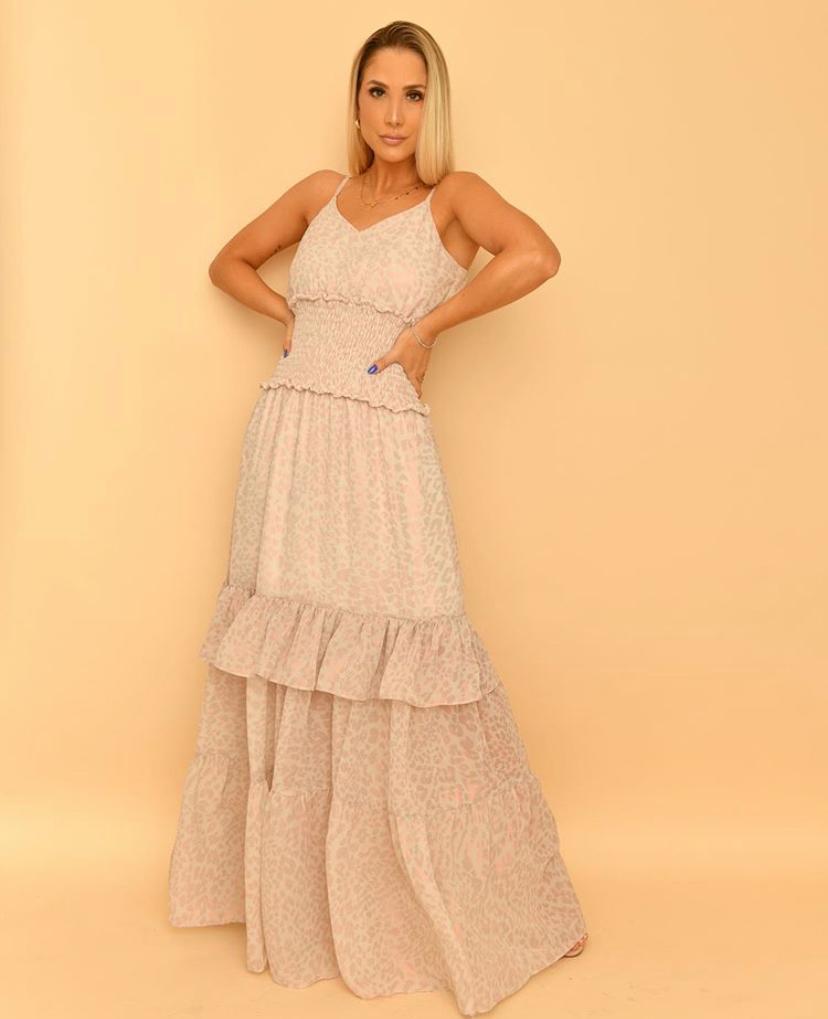 Vestido Bruna Longo Chiffon