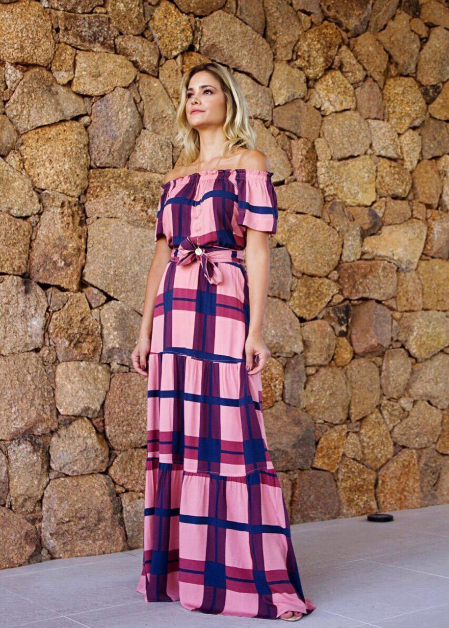 Vestido Camile Com Faixa  Rosa Cha