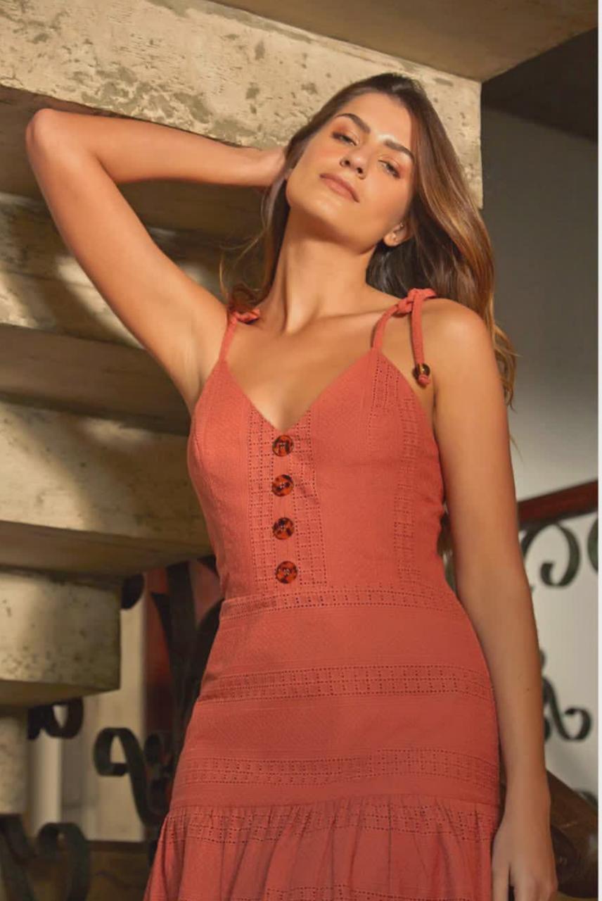 Vestido  Carolina  Laise  Midi