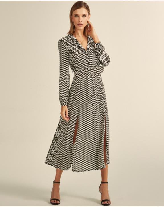 Vestido Chemise Esmeral Crepe +Cinto