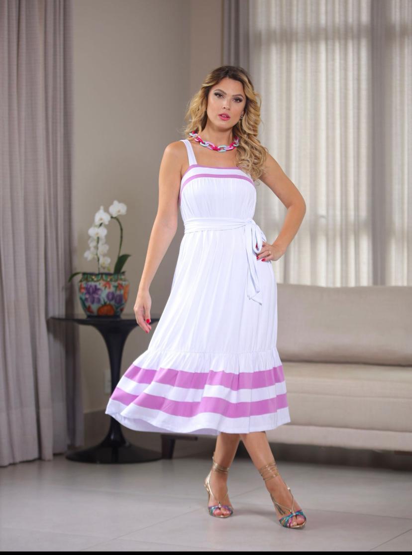 Vestido Dulce Malha Com faixa