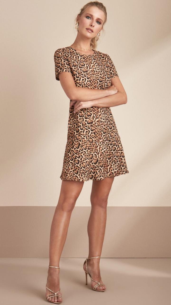 Vestido Esmeral Animalprint 3% Elastano