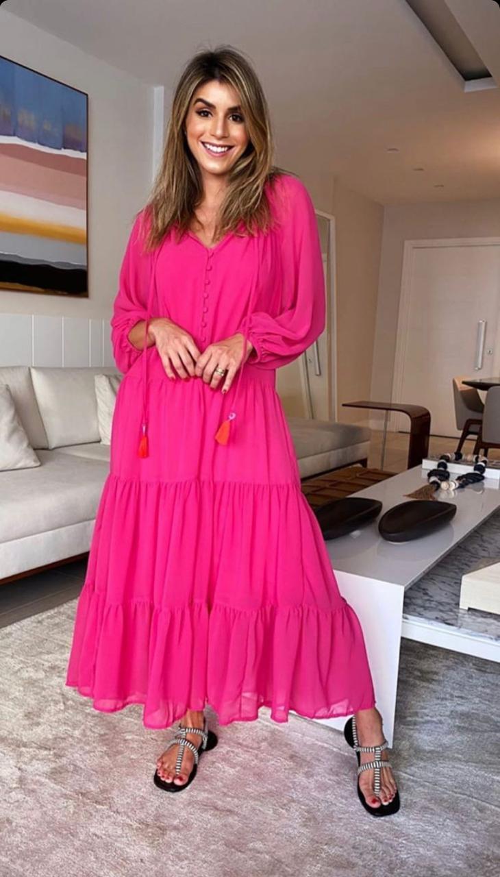 Vestido Esmeral Boho Chiffon