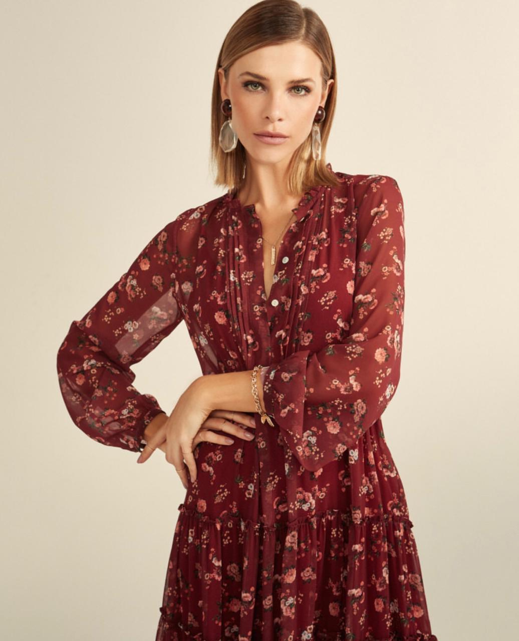 Vestido Esmeral Chiffon