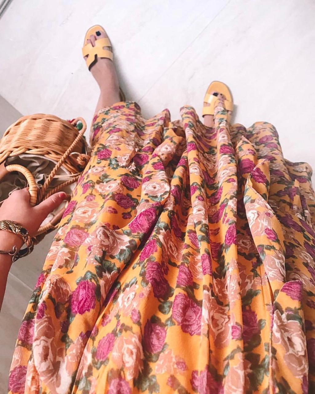 Vestido Esmeral Chifon