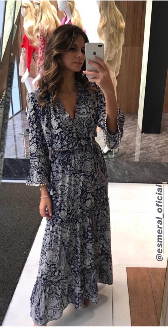 Vestido Esmeral Crepe