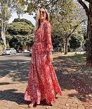 Vestido Esmeral Crepe Gypsy Paisley