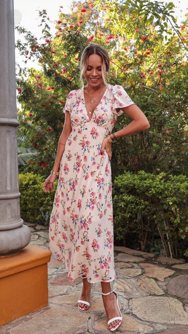 Vestido Esmeral Crepe  MG Curta