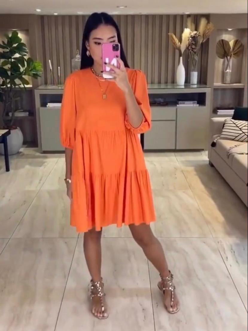 Vestido Esmeral Linho Curto