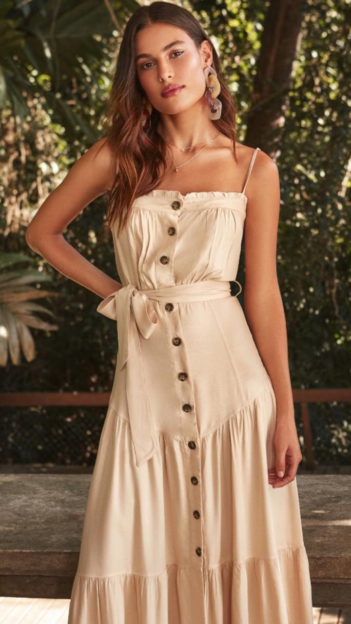 Vestido Esmeral Viscose Alça Reguláveis + faixa