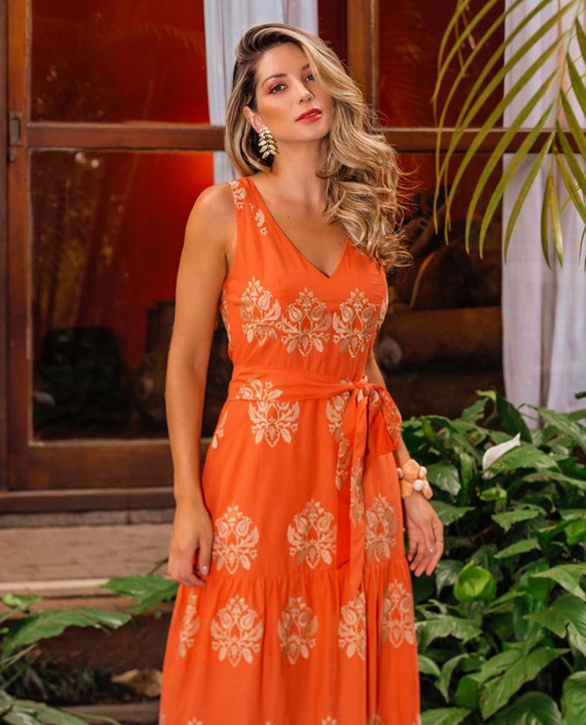 Vestido Fabiana Algodão Bordado (Forro)