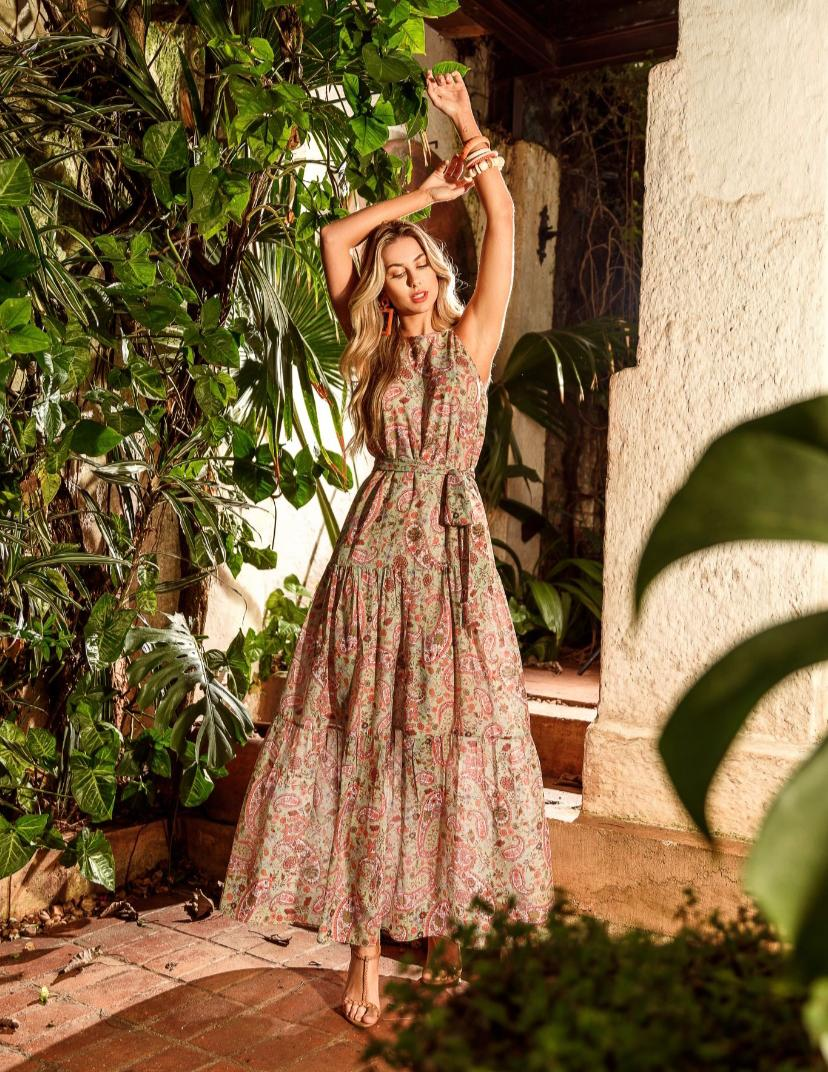 Vestido Flora Crepe + Faixa