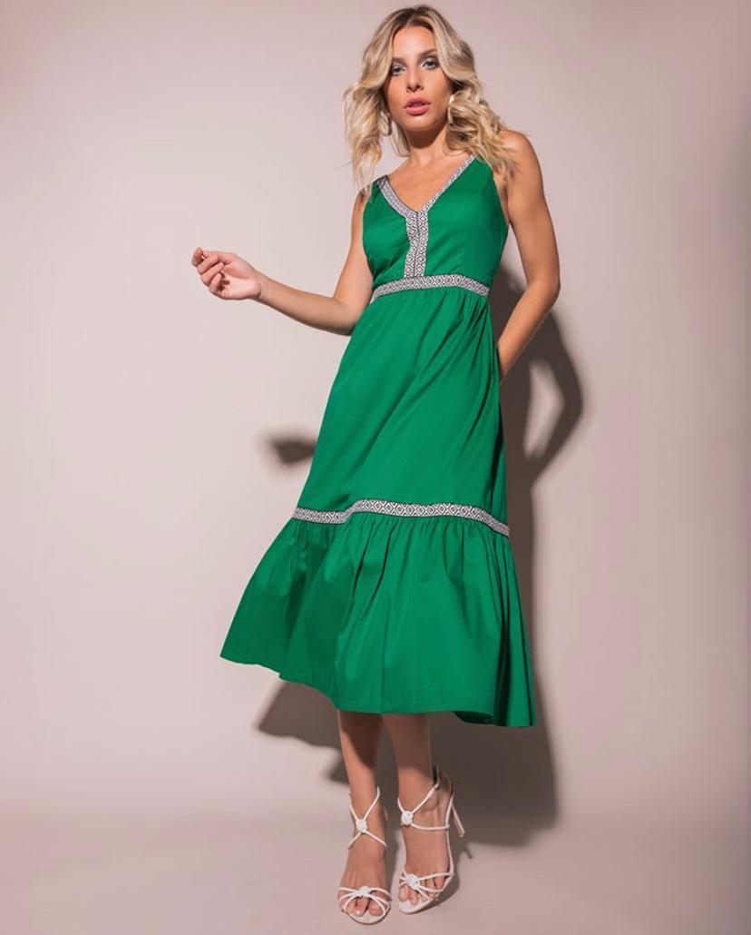 Vestido Heloise  Tricoline  Mista  3% Elastano