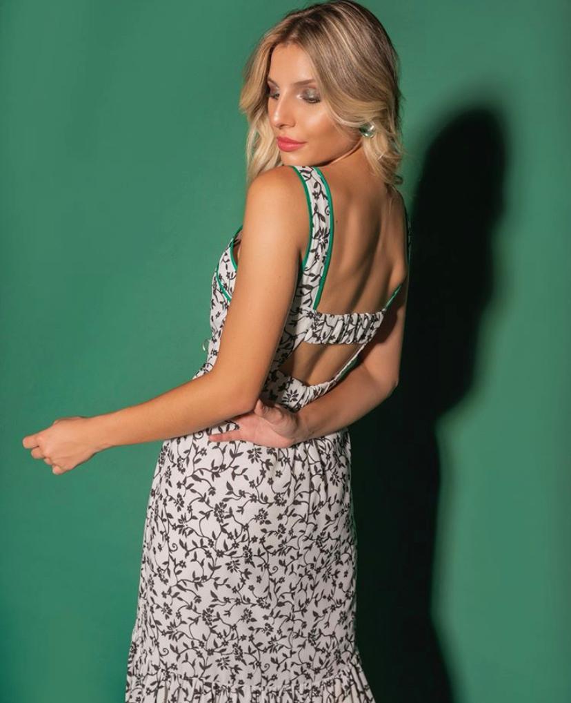 Vestido Hilary Crepe Estampado