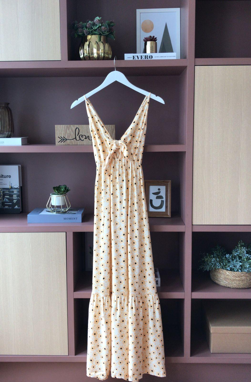 Vestido Ingrid Flower Viscose Detalhe Alcinha Regulador + Amarração Decote