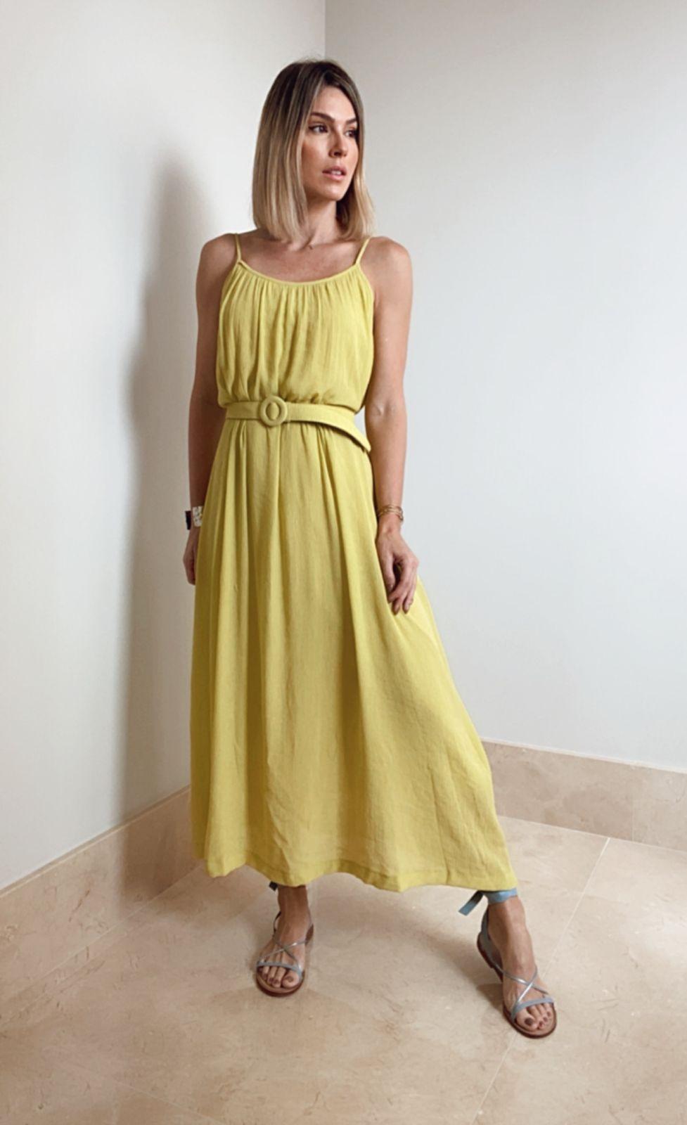 Vestido Isadora Crepe  Textura Midi