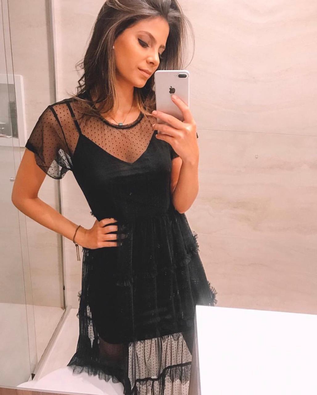 Vestido Esmeral Tule (2 peças)
