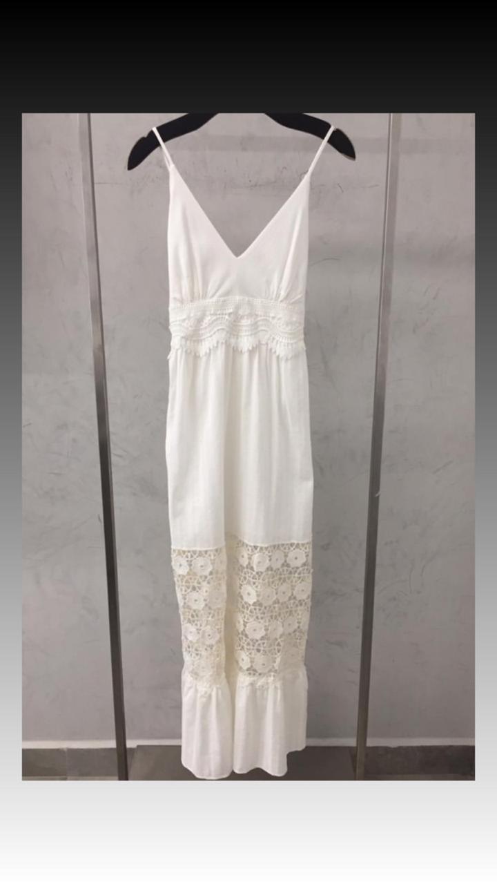Vestido La Chocole   Algodão + Viscose Detalhe em Laise