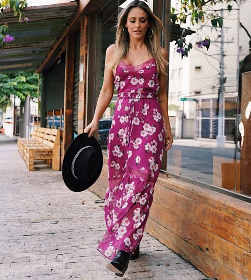 Vestido La Chocole Crepe Estampa Floral