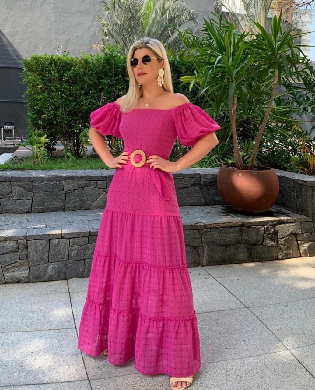 Vestido La Chocolê Laise Transparente MG + Cinto