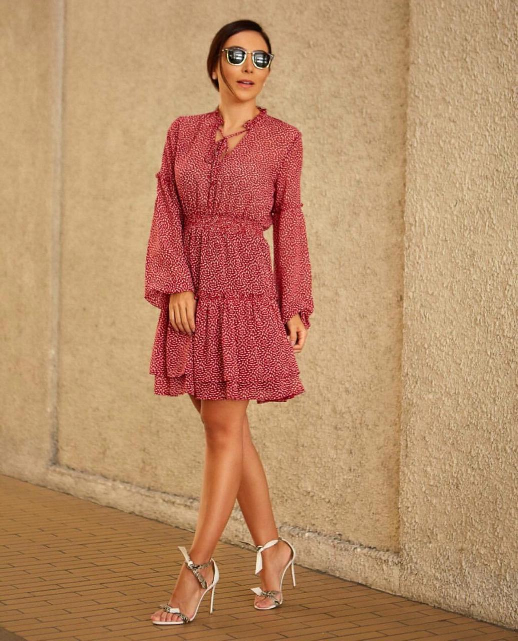 Vestido Lala Crepe Print