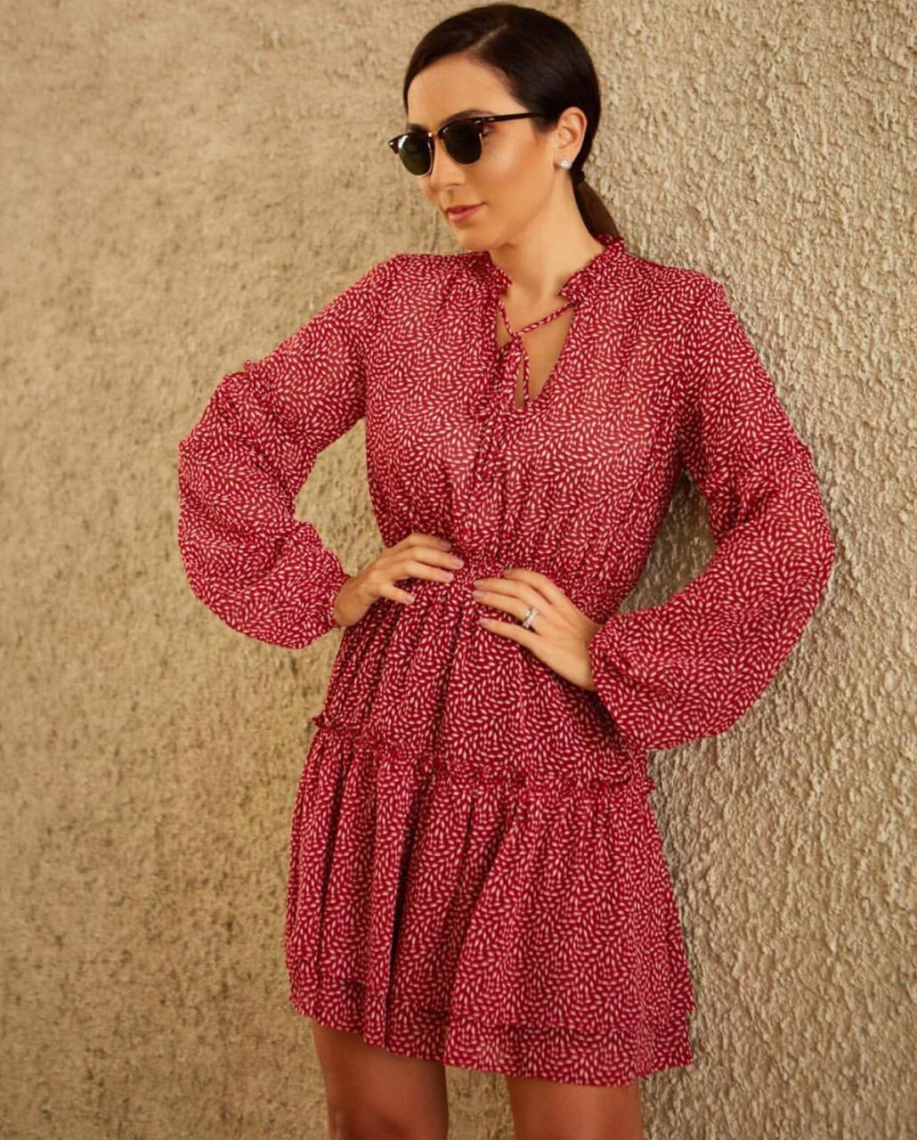 Vestido Esmeral Crepe Print