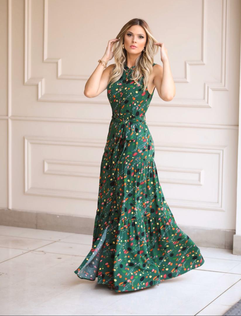 Vestido Larissa  Viscose C/ Faixa