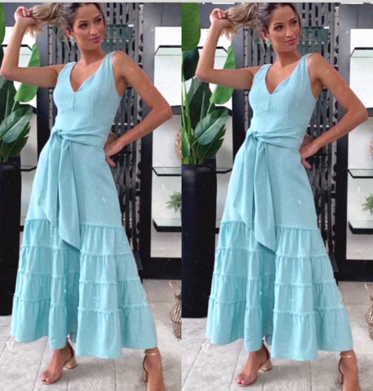 Vestido Liliana  Midi Linho