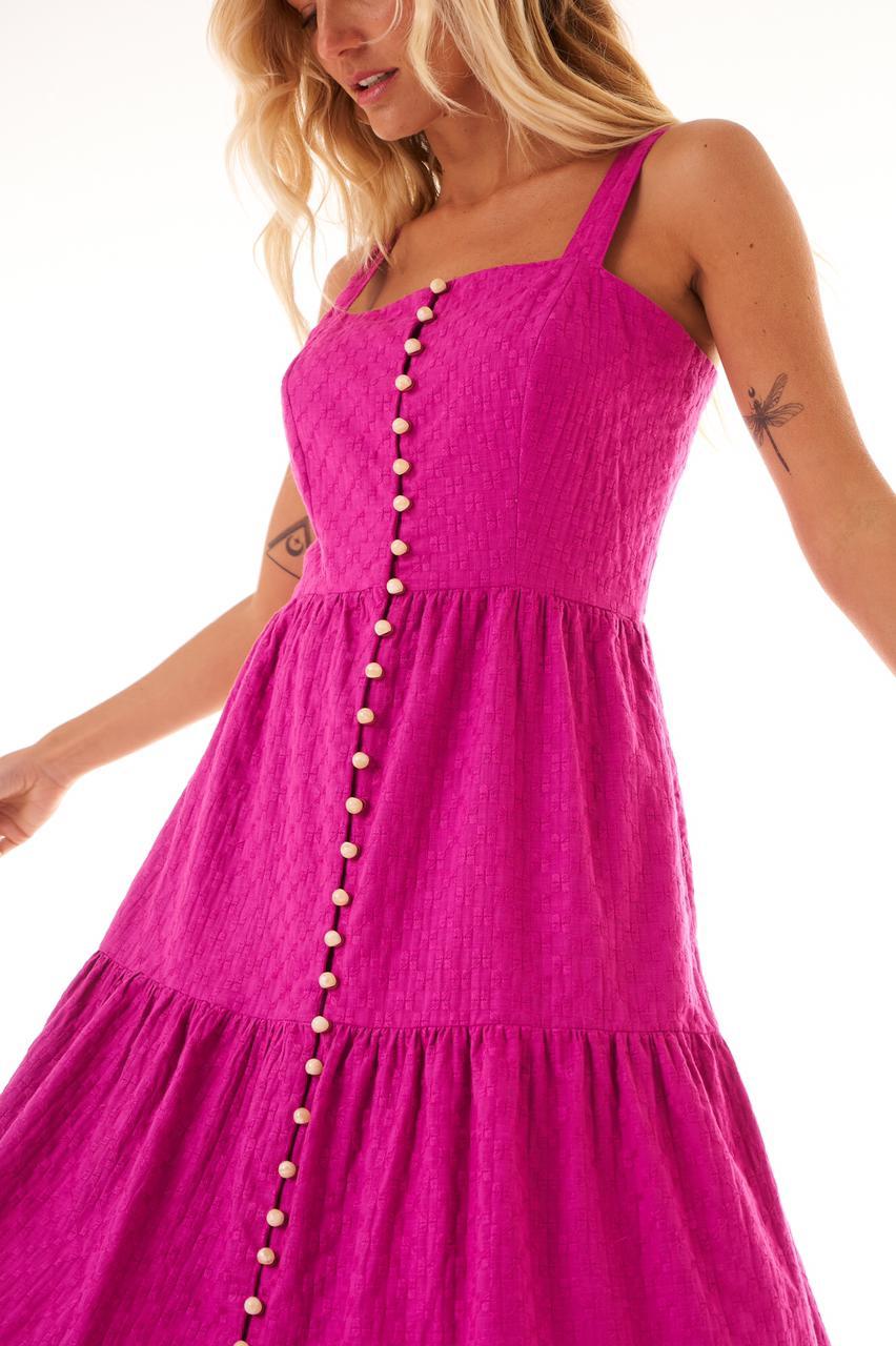 Vestido Lindsey (Forro) Camadas Detalhe Alça Fivela /Botões