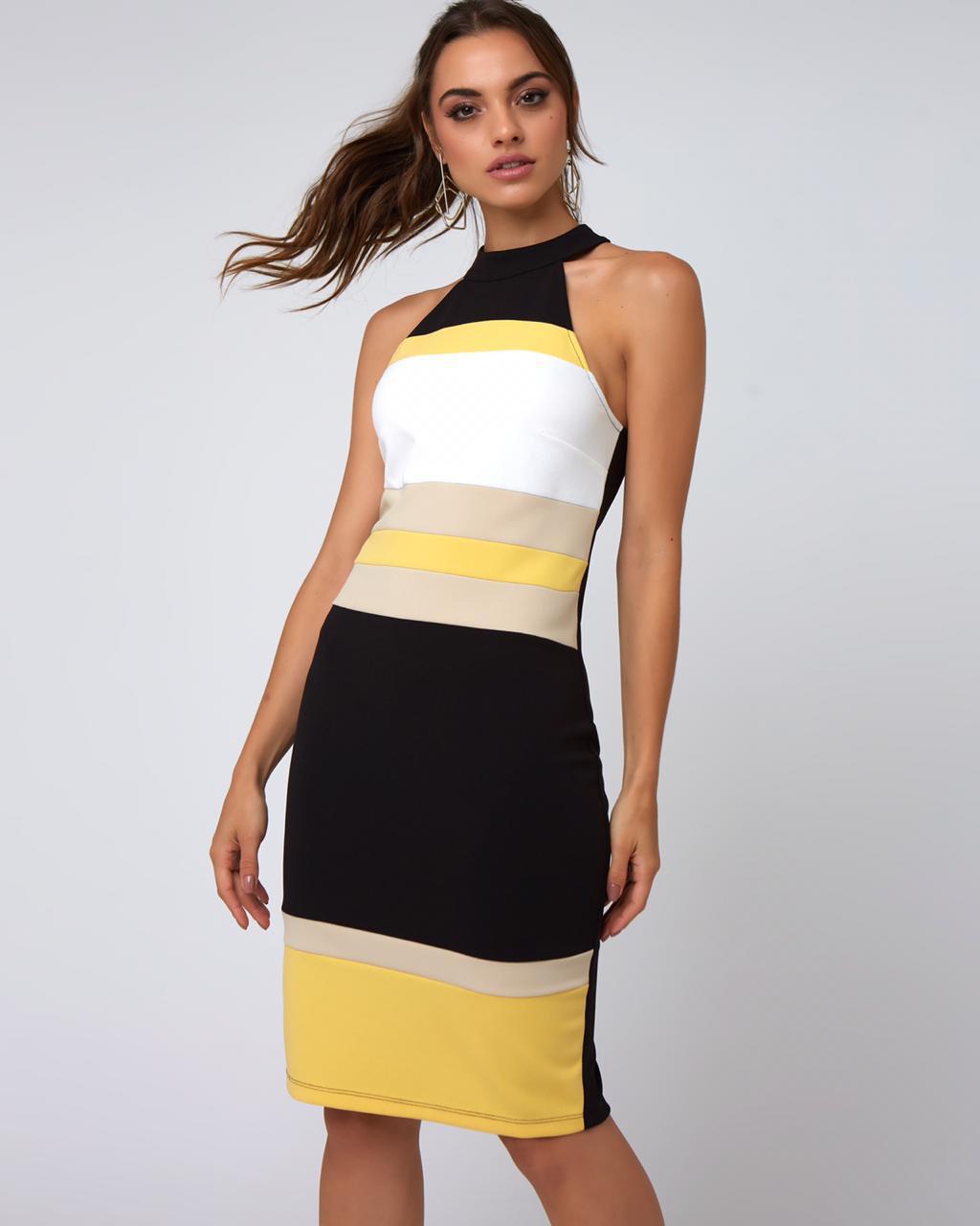 Vestido Marcia Crepe Colors 3% Elastano