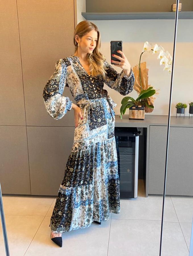 Vestido Hera Crepe Com Faixa