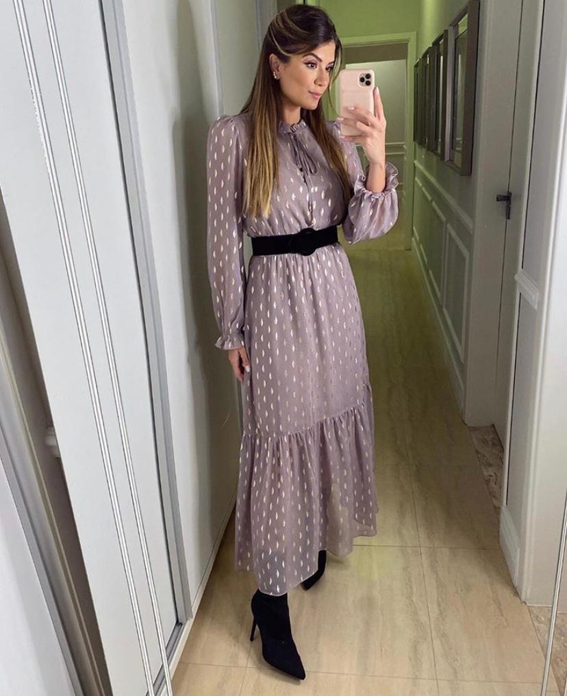 Vestido Mariela Crepe  Forrado