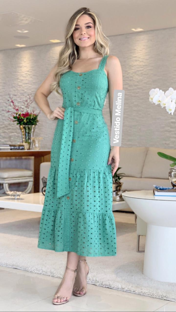 Vestido  Melina Lease  Mid c/ Faixa