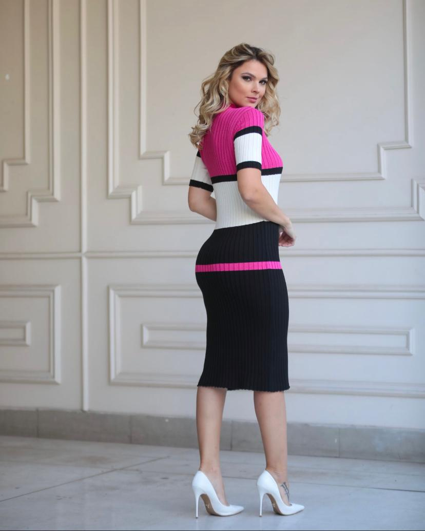 Vestido Melissa Tricot Canelado