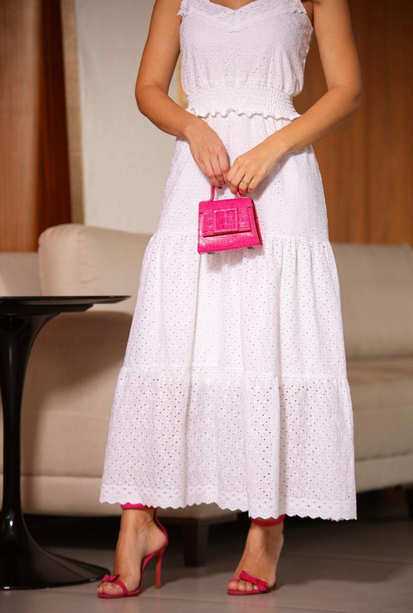 Vestido Milalai  Laise Algodão cintura lastex