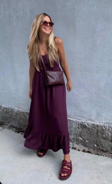 Vestido Monica Crepe (Forro) Detalhe Babados