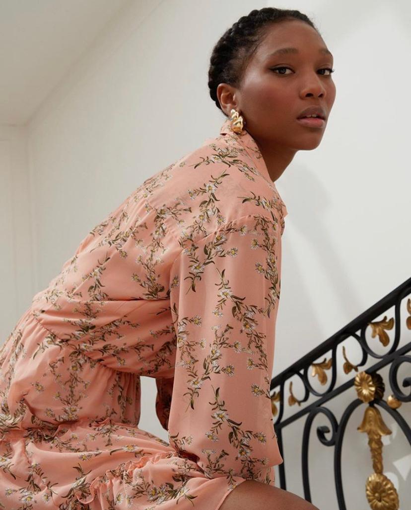 Vestido Monique Crepe Floral