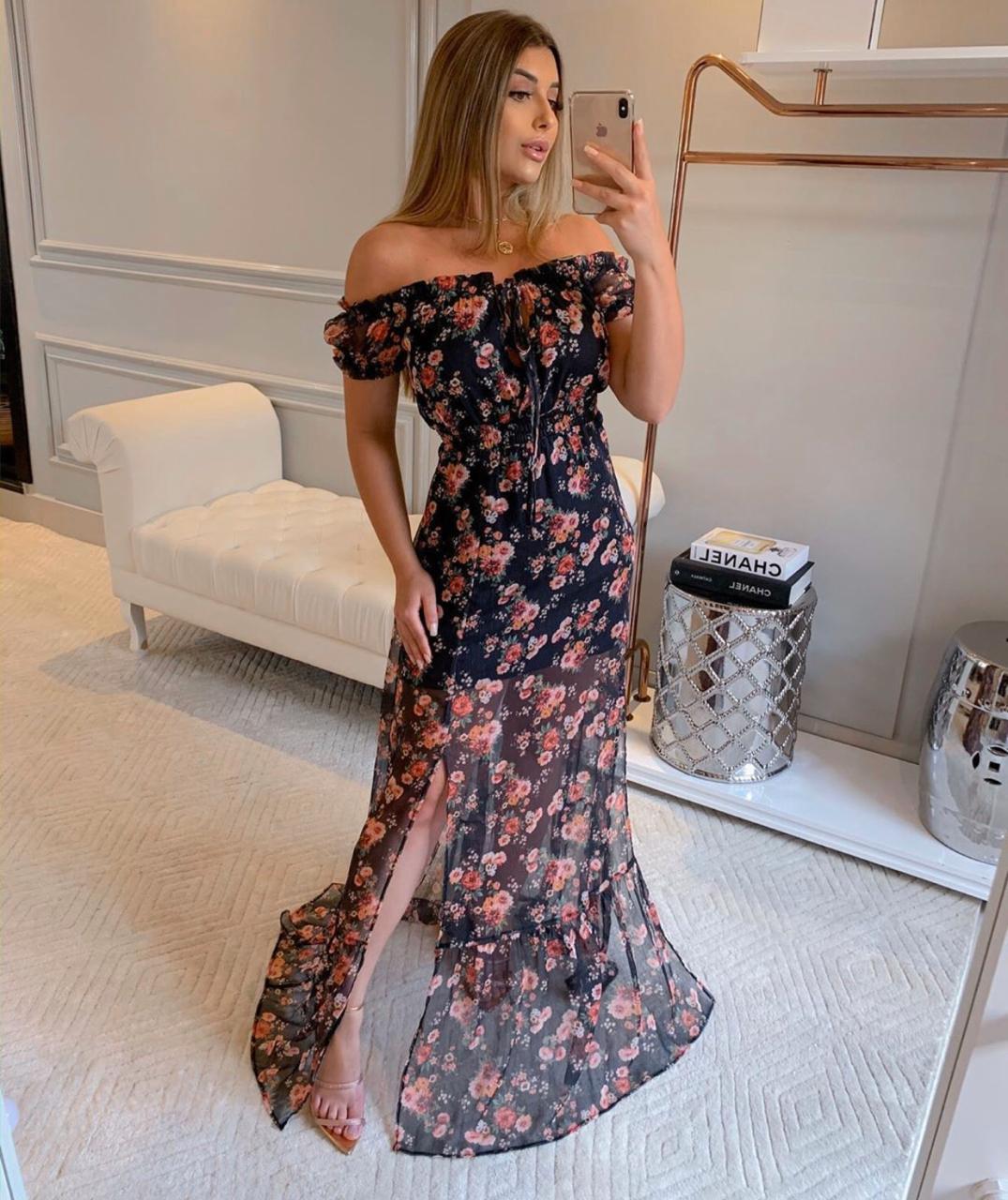 Vestido Moriina Seda (eco) Floral