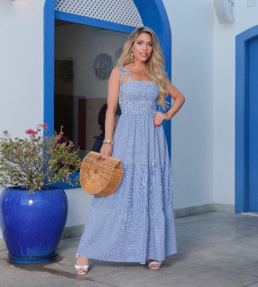 Vestido Morina Atlanta (Forro) Detalhe Lastex Babados
