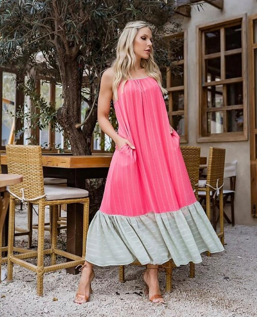 Vestido Morina Bicolor Jacquard