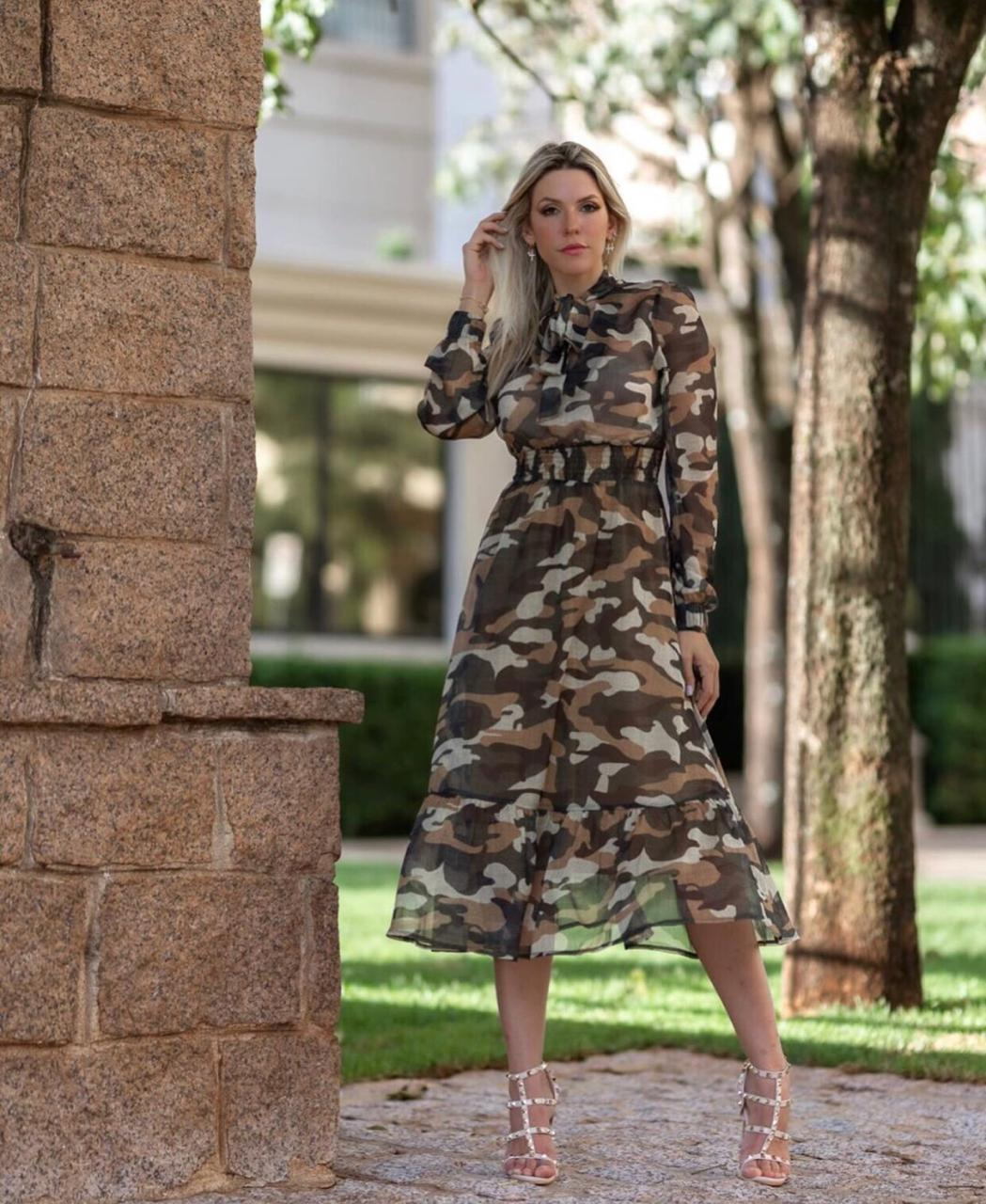 Vestido Morina Camuflado Viscocrepe
