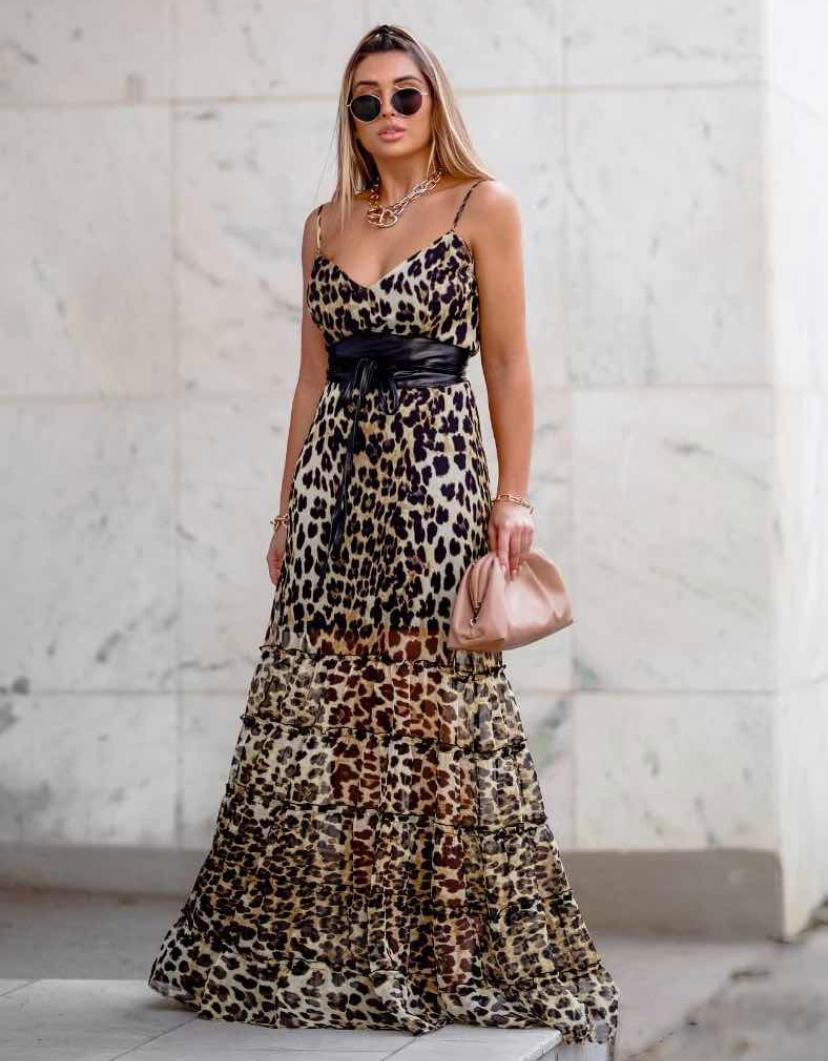 Vestido Morina Cinto Couro