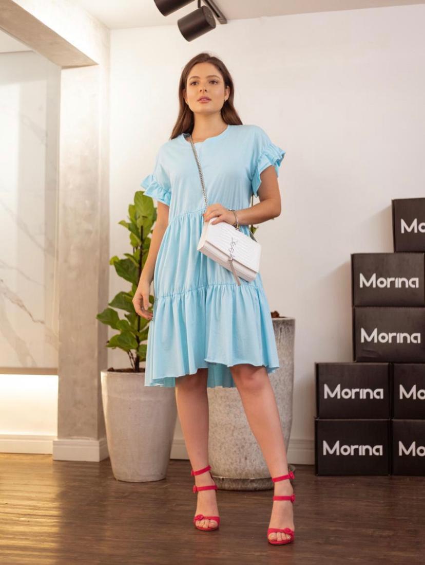 Vestido  Morina Cotton Com Babado Carla