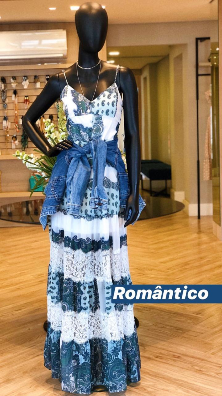 Vestido Morina Crepe Com Renda