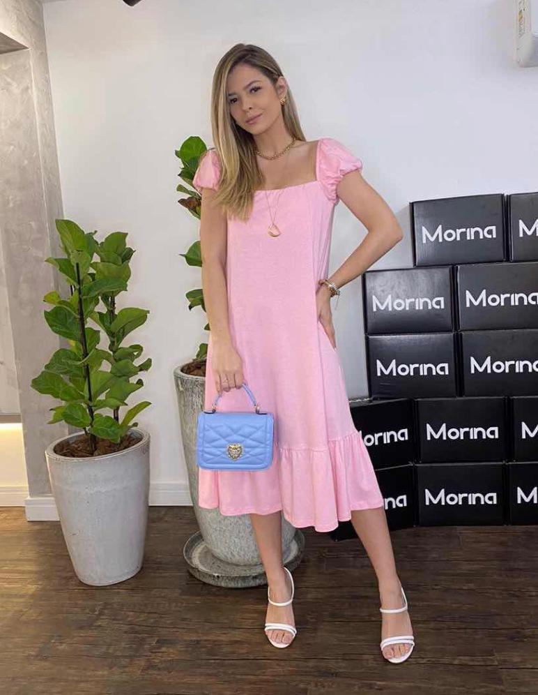 Vestido Morina Em Malha Princess