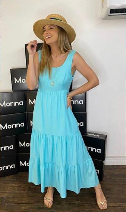 Vestido Morina Linho Com Camadas