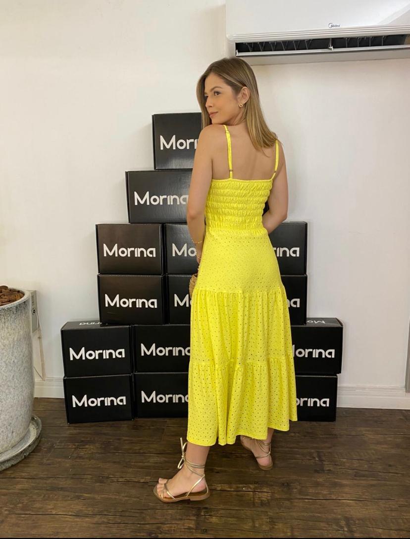 Vestido Morina Malha Laise Lastex